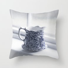 Vintage Blue Pitcher Throw Pillow