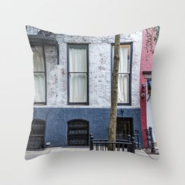 Old Greenwich Village apartment Throw Pillow