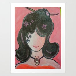 MY Girl Emiko Art Print