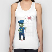 police Tank Tops featuring Zombie Police by Jelo