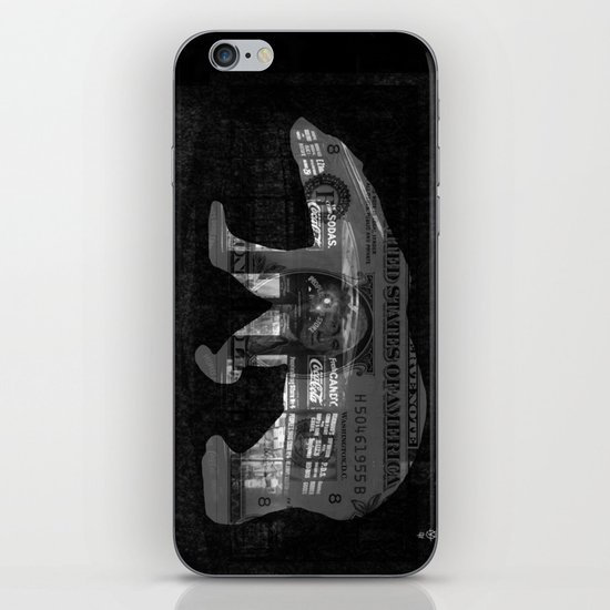Ice Bear City Collage iPhone & iPod Skin
