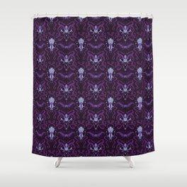 Monster Damask (purple) Shower Curtain