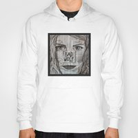 bad wolf Hoodies featuring Bad Wolf  by Chrissie Brown Art