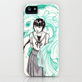 Elemental Schoolgirls  -  Aqua iPhone Case