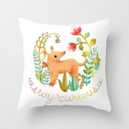 Stay Curious - Baby Aardvark Throw Pillow