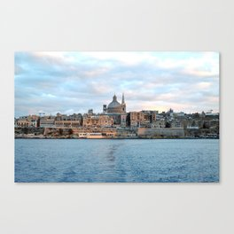 Valletta from the Water - Malta Canvas Print