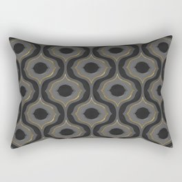 60's Tessellation // Grayscale Rectangular Pillow