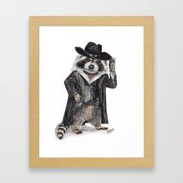 Raccoon Bandit Framed Art Print