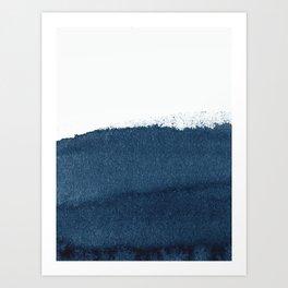 Indigo Art / Minimal Navy Print Art Print