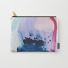 PYT: a minimal abstract mixed media piece on canvas in blues, pink, purple, and white Carry-All Pouch