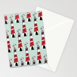 light-house aqua Stationery Cards