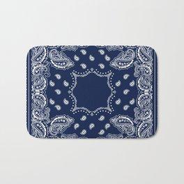 Bandana - Navy Blue - Boho Bath Mat