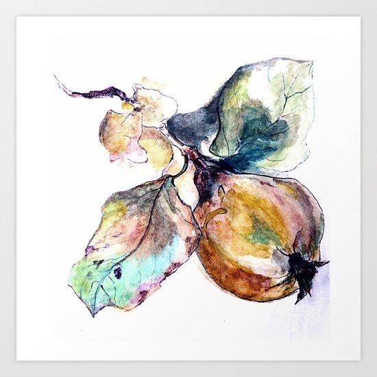 Study of a Pear Art Print