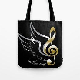 Angel of Hope Wings Tote Bag