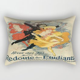 Vintage poster - Redoute des Etudiants Rectangular Pillow