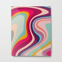 Boho Fluid Abstract Metal Print