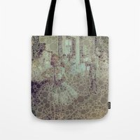 degas Tote Bags featuring the ballet class by MonicaKay