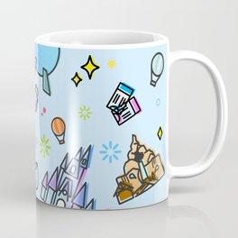 Happy Place on Earth Blue Pattern Coffee Mug