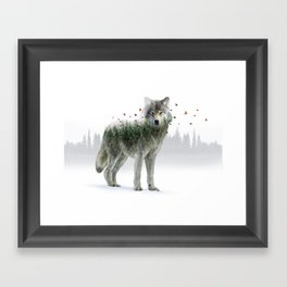 Wild I Shall Stay | Wolf Framed Art Print