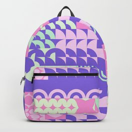 Abstract geometrical blush pink violet pattern Backpack