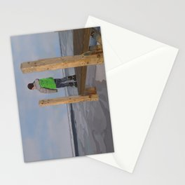 Icy Waters of Lake St. Clair, Harrison Twp., MI Stationery Cards