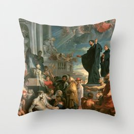 The miracles of St. Francis Xavier - Peter Paul Rubens Throw Pillow