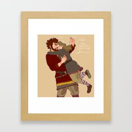 Hug Series: Red Framed Art Print
