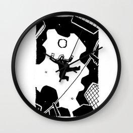 Precarious drawings #3 Wall Clock
