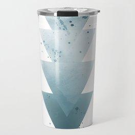 Blue Triangles. Travel Mug
