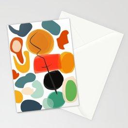 Abstract Joyful Shapes Pattern Decoration Stationery Cards