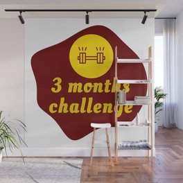 3 months challenge body builder workout gym Wall Mural
