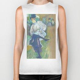 """Henri de Toulouse-Lautrec """"Jane Avril Dancing"""" Biker Tank"""