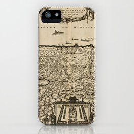 Map of Palestine (1659) iPhone Case