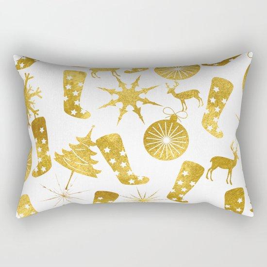 Gold Christmas 06 Rectangular Pillow