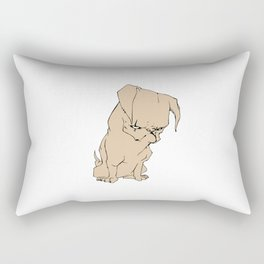 Grumpy Pug Rectangular Pillow