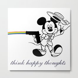 Think Happy Thoughts Metal Print