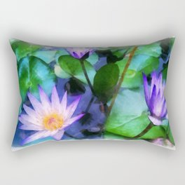 Purple Lotus Rectangular Pillow