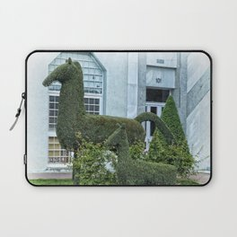 Horse and Foal Topiary Laptop Sleeve