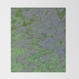 GORIAN MOSS GROWING ON FALIS THREE ON A CLOUDY DAY Throw Blanket