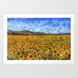 Vincent Van Gogh Sunflowers Art Print