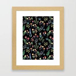 fairytale meadow pattern Framed Art Print