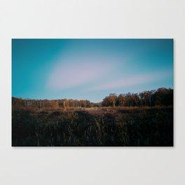 Last Light Over Holme Fen Canvas Print