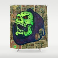 skeletor Shower Curtains featuring Skeletor by Beery Method