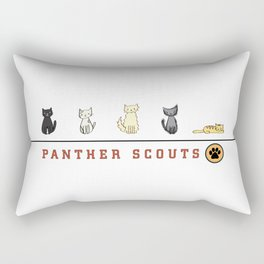Five Cats All in a Row - Panther Scouts Characters Rectangular Pillow