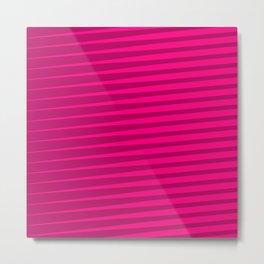 Funky Lines (Fuchsia/DarkMagenta) Metal Print