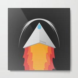 Millenium ship ultraminimalist Metal Print