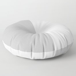 White and Silver Gray Vertical Halves Floor Pillow