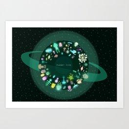 Planet Five Art Print