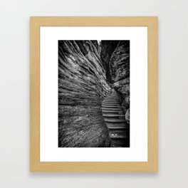 Athabasca Stairs Framed Art Print