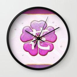 Japanese Flower Jeweled Artwork Wall Clock